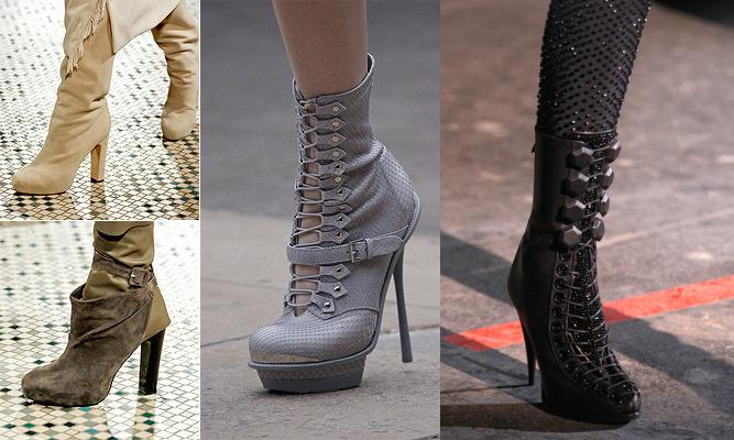 Женская модная обувь осень 2011