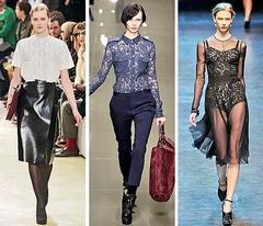 Кружево - модный тренд сезона 2011-2012